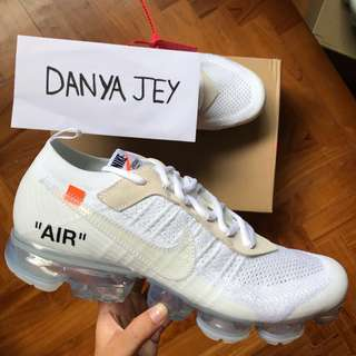 🚚 OFF-WHITE x Nike Air VaporMax in White