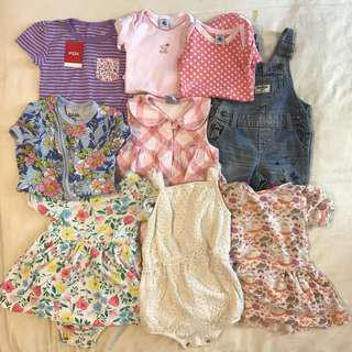BN 20sets Baby girl clothes 6 - 18m