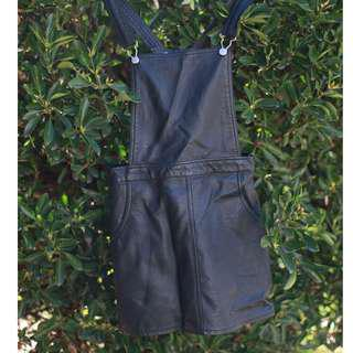Target Faux Leather Overall Dress