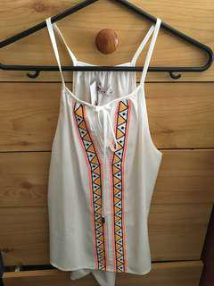 White Tribal top