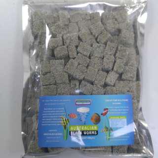 澳洲直送黑蟲 魚糧 direct import from Australia black worms 100g