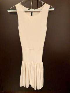 BCBG body con dress with flare