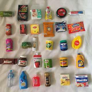 **FULL SET - NO CASE** Coles Mini Little Shop Collectables