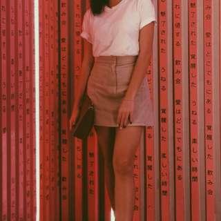 Nude A-Line Skirt