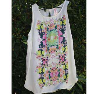 Ally Floral Sleeveless Top