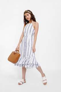 🚚 Lovebonito Vittoria Crossback Striped Dress