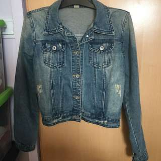Denim Jacket slim fit washed 牛仔外套