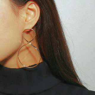 Infinity Dangling Earrings (Gold and Silver)