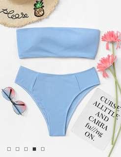 Light Blue High Waisted Bikini