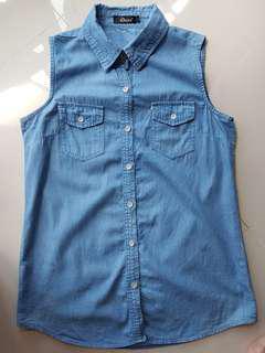Demin Sleeveless Shirt