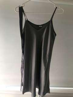 Grey/ purple silky dress