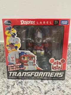 Transformers Takara Disney Label Mickey Mouse Optimus Prime