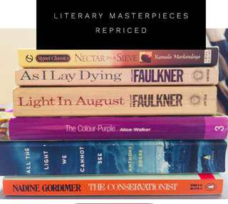 Literary novels (price starts at 250)