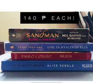 Assorted books @140