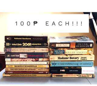 Books 100 each