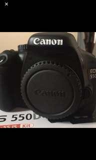 Canon 550d body+18-55mm lens 盒裝配件