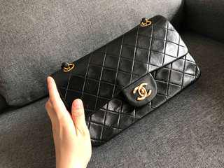 Authentic Vintage Chanel Lambskin flap bag