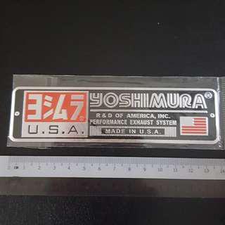 Yoshimura USA Bike Metal Decal Sticker Stickers