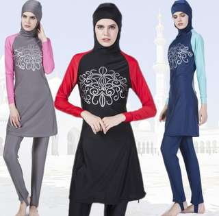 Muslimah swimsuit with front design