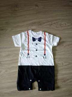 🚚 [PRICE REDUCED] Baby Romper - printed suspender