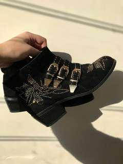 Stud ankle boots