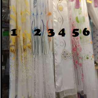 Floral curtain with Inner Voile Sheer curtain