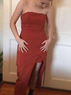Rust coloured dress