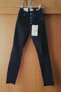 Bundle Cotton On Super Skinny Cropped Ankle Black Jeans with top