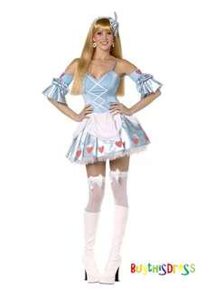Alice in the Wonderland Fairy Tale Women Costume AU Size 10
