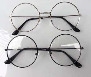 Round glasses frame, no prescription