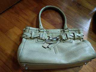 Coach beige hand bag reduced to 45.. price reduced