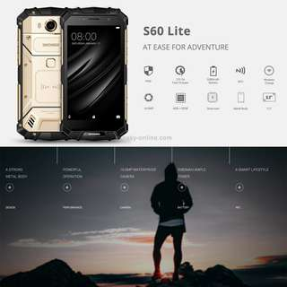DOOGEE S60 Lite Triple Proofing Phone, 4GB+32GB, IP68 Waterproof Dustproof Shockproof, 5580mAh Battery, Fingerprint Identification, 5.2 inch Sharp Android 7.0 MTK6750T Octa Core up to 1.5GHz, Network: 4G, NFC, OTA, Wireless Charge