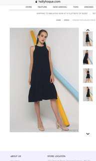 Hollyhoque windser peplum midi dress black