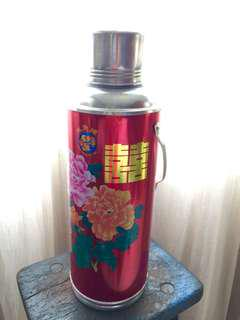 Double Happiness Wedding Red Hot Water Flask - Rental only