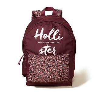 Hollister Maroon Backpack