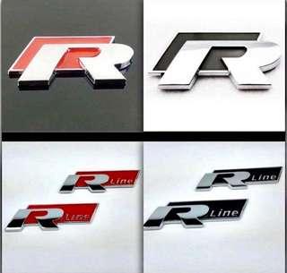 Volkswagen R and  Rline boot emblem