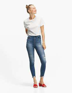 Stradivarius super high waist jeans free shipping!