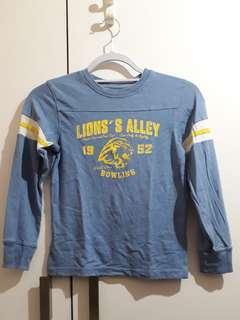 Blue Lion's Alley Long Sleeve Top