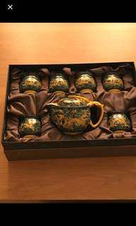 中式茶具一套 雙層隔熱