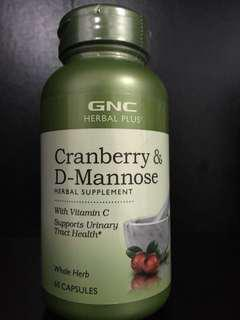 BNEW ORIG GNC Cranberry and D-Mannose Urinary Tract Supplement