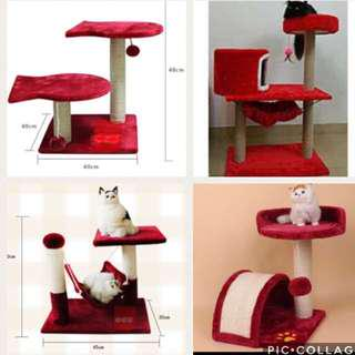 (New!) cat scratch bed pole play condo house