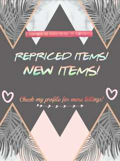 NEW AND REPRICED ITEEEMS!!