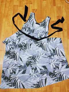 Grey Sach-Tie Maxi Maternity Dress