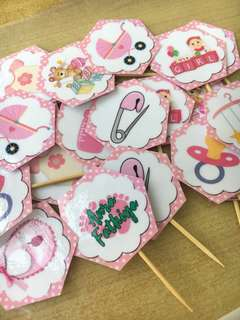 Cupcake Toppers - BABY SHOWER