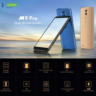 LEAGOO M9 Pro, Dual 4G, 2GB+16GB, Dual Back Cameras, Face & Fingerprint Identification, 5.72 inch Android 8.1 MTK6739V Quad Core up to 1.5GHz, Network: 4G, Dual SIM
