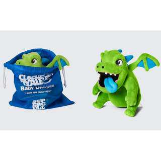 BRAND NEW AUTHENTIC Clash Royale Baby Dragon Plush With Bag And Super Magical Chest Tag SuperCell Super Cell Toy Toys Clash Of Clans Clash Of Clan