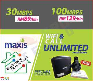 Maxis Home Fiber Unlimited 30mbps @ RM89 😍😍