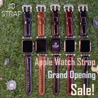 (門市設有Apple Watch 錶帶專櫃) 各款Apple Watch 錶帶 適用Series 1-4 皮革 尼龍 不鏽鋼款式 蘋果手錶錶帶 Apple Watch Strap 歡迎親臨門市選購