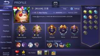 Mobile legend Account for TRADE