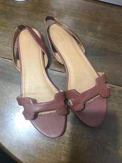 Zara flat sandals like hermes oran